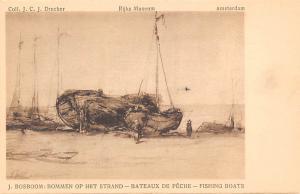 Netherlands Art Rijks Museum, Bommen op Het Strand, Fishing Boat, J. Bosboom