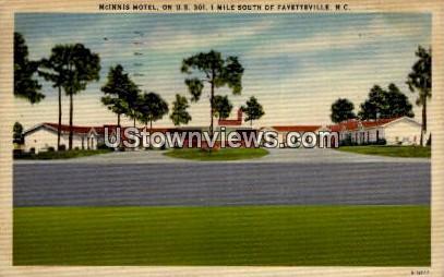McInnis Motel Fayetteville NC 1952