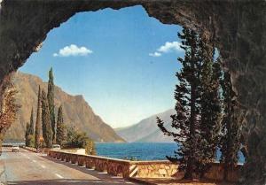 Italy Lago di Garda Galleria della Gardesana Road Auto Car Lake