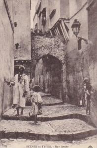 Algeria Scenes et Types Rue Arabe
