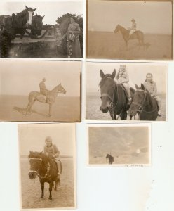Group of six (6)  old photographs, small size, not postcards