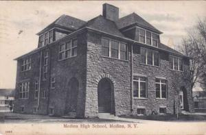 Medina High School - Albany High School glued to back - New York State