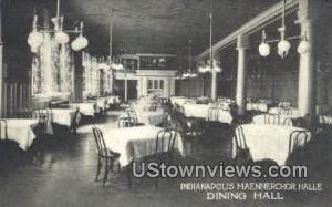 Indianapolis Maennerchor Halle, Dining Hall Indianapolis IN Unused