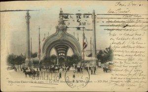 Paris Exposition Universelle 1900 Rene Binet Monumentale Used Postcard