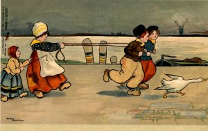 Dutch Children - Running      Artist: Ethel Parkinson