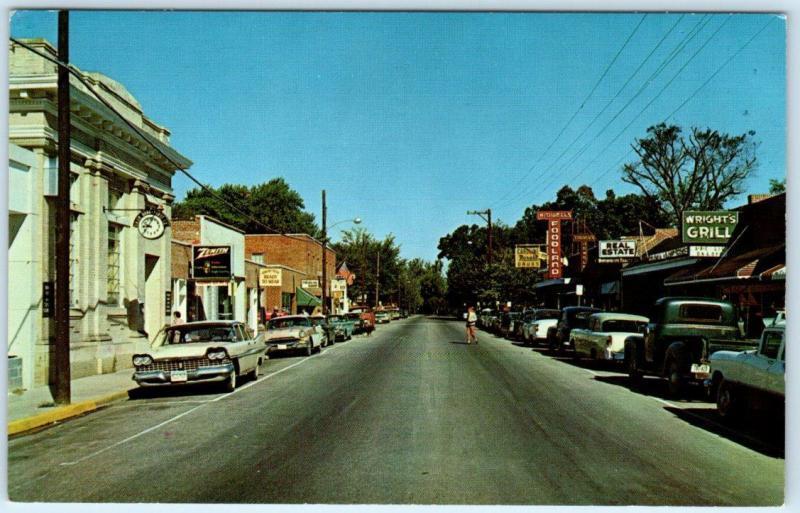 Bowling Green Virginia Va Main Street Scene Looking North C1960s