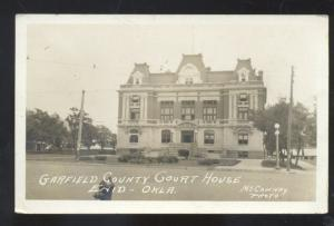 RPPC ENID OKLAHOMA GARFIELD COUNTY COURT HOUSE VINTAGE REAL PHOTO POSTCARD