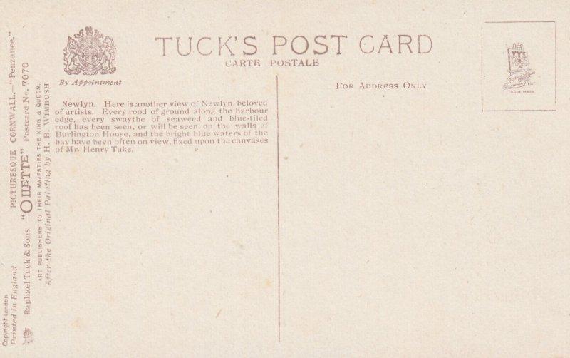 CORNWALL, England, UK; Penzance, Newlyn, 1900-10s ; TUCK 7070