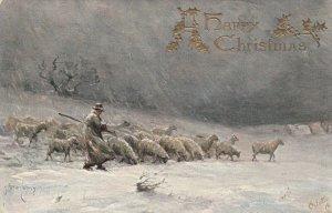 The Shepherd in Winter , Christmas , 1900-1907 ; TUCK 2737