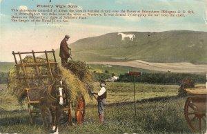 Westbury White Horse. Farming Nice old vintage English postcard