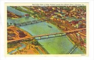 Bird's Eye View Of New Viaduct Across Des Moines River, Ottumwa, Iowa, 1930-1...