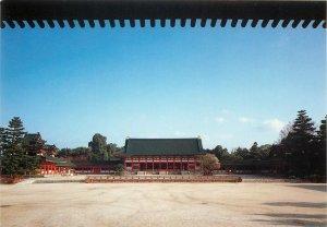 Japan the pavilion of the shrine the heian shrine postcard