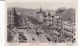 RP: BARCELONA , Spain, 1929 ; Paseo De Gracia