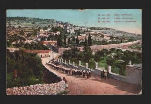 078073 Jerusalem Garden of Gethsemani Vintage PC