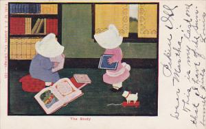 Sunbonnet Girls In The Study 1906