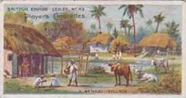 Player Vintage Cigarette Card British Empire Series No 49 A Bengal Village  1904