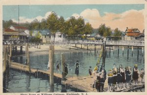 HIGHLANDS , New Jersey , 1910s ; Shore Scene at Williams Cottages