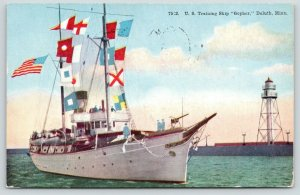Duluth Minnesota~Great Lakes US Training Ship Gopher~Was Lighthouse Tender~1912