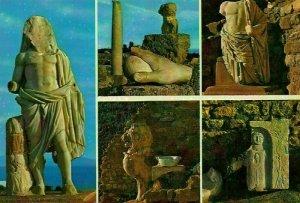 Tunisia Carthage Antiquarium Statues Ruins Sculptures Postcard