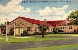 Florida Coral Gables Woman's Club and Public Library 1948 Curteich