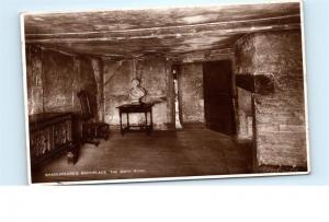 *1930s Shakespeare's Birthplace Birth Room Walter Scott Vintage Postcard C34