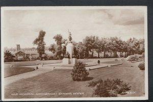 Devon Postcard - War Memorial, Northernhay Gardens, Exeter     T9994