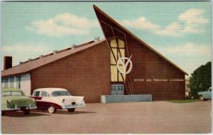 SAN ANTONIO, Texas  TX   LACKLAND AIR FORCE BASE  ca 1950s Cars  Postcard