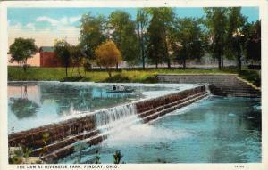 The Dam at Riverside Park, FINDLAY, Ohio, PU-1927