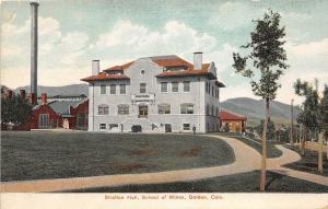 D29/ Golden Colorado Co Postcard c1910 Stratton Hall School Of Mines
