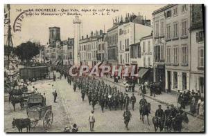 Old Postcard Steam Bagnard Rochelle Quai Valin line 123rd du Depart for maneu...