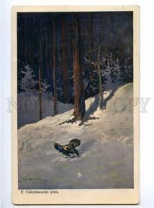 168775 Winter HUNT blackcock by CIECZKIEWICZ vintage color PC