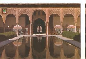 Postal 047275 : Granada. Alhambra. Patio de los Arrayanes. Entrada a la Torre...