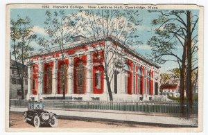 Cambridge, Mass, Harvard College, New Lecture Hall