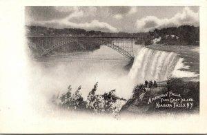 New York Niagara Falls American fFalls From Goat Island