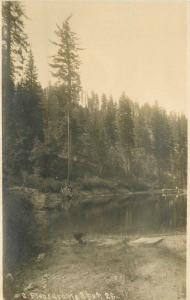 C-1910 Quincy California Plumas County Lake Scene RPPC real photo 6221