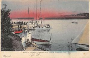 Toledo Ohio Walbridge Park Boat Landing Antique Postcard K92248