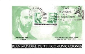 Mexico Old Vintage Antique Post Card Plan Mundial de Telecomunicaciones Unused