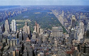 Looking North from RCA Building toward Central Park and upper Manhattan Mint