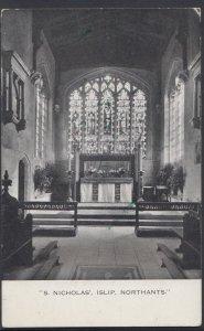 Northamptonshire Postcard - S.Nicholas' Church, Islip     DC1405