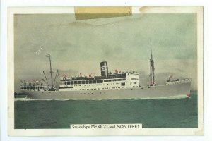 Postcard Steamships MEXICO and MONTEREY Unposted VPC01.
