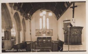 Manaccan Church Interior Cornwall Vintage Real Photo Postcard