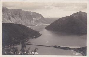 Switzerland Lago di Lugano Ponte di Melide 1926 Photo