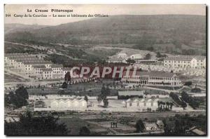 Old Postcard Creuse pitteresque side of the curtain mess and building officer...