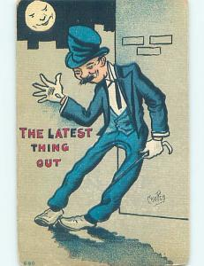 Pre-Linen alcoholism comic SIGNED - DRUNK MAN IS THE LATEST THING OUT HL2703