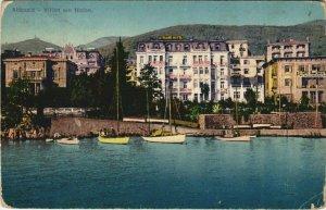 CPA AK ABBAZIA Villen am Hafen. CROATIA (623017)