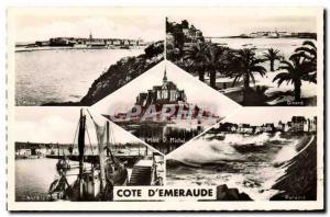 Modern Postcard Cote d'Emeraude Cancale Dinard St Malo Parame Mont Saint Michel