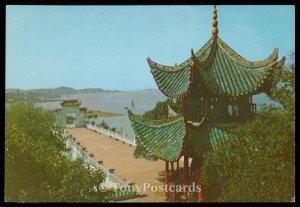 Yoyang Balcony of Lake Tungting. Hunan