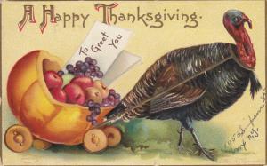 CLAPSADDLE : Thanksgiving Turkey Cart , PU-1909