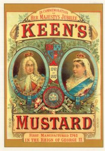 Queen Victoria Keens Mustard Jubilee Advertising Poster Rare Postcard