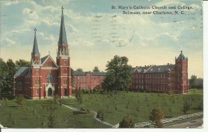 St. Mary's Catholic Church And College, Belmont. Near Charlotte, N.C